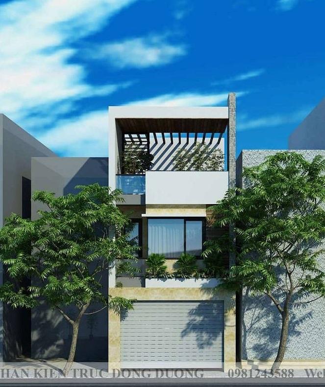 Mẫu nhà phố 2 tầng có gác lửng với 4 phòng ngủ rộng rãi - NP1848