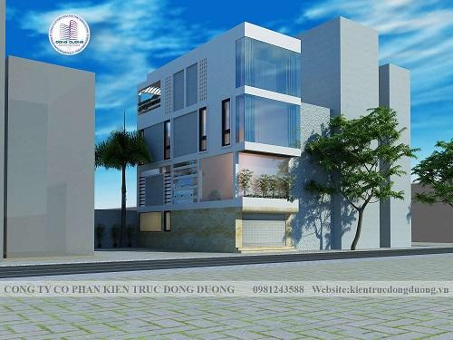 Thiết kế nhà ở kết hợp văn phòng cho thuê kinh doanh  4m - NP1850