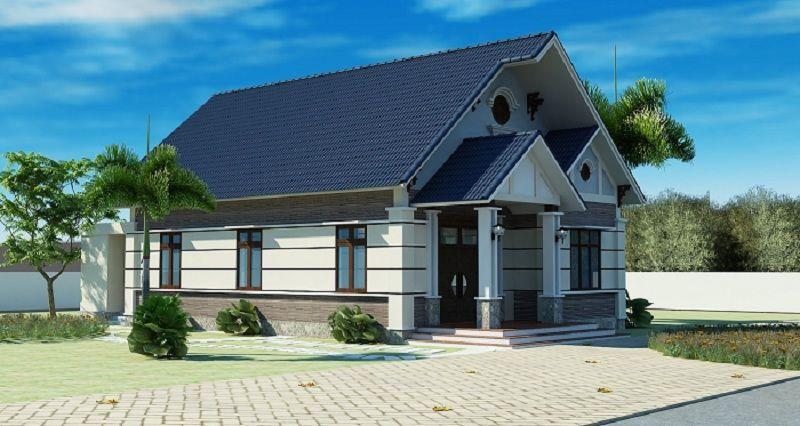 Những mẫu thiết kế nhà vườn cấp 4 đẹp ở quê có 3 phòng ngủ dưới 150m2-BT2006