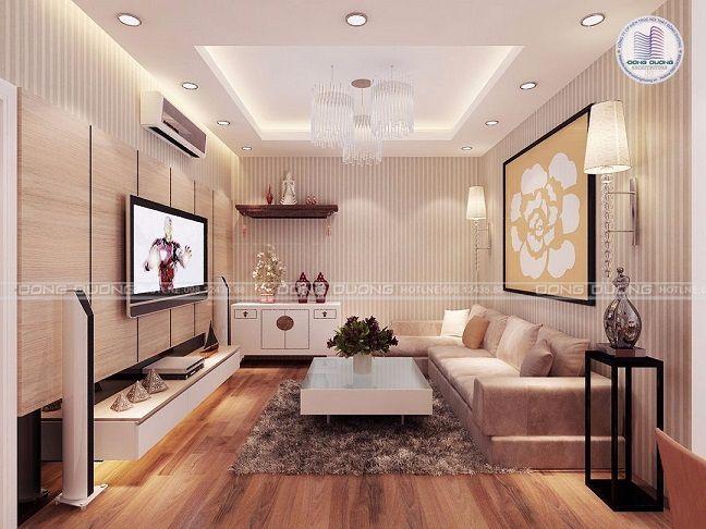 Bố trí nội thât cho căn hộ chung cư 2 phòng ngủ diện tích 100m2 - NT1702