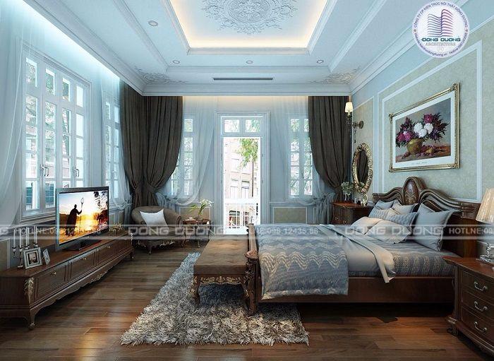 Thiết kế nội thất tân cổ điển sang trọng cho nhà ba tầng - NT1709