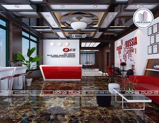 Thiết kế nội thất trung tâm tiếng anh cao cấp - NT1717