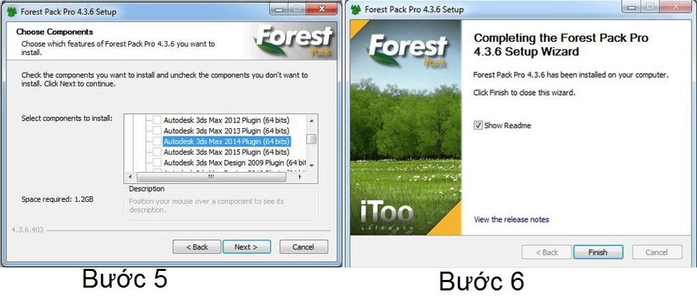 Hướng dẫn cài đặt, crack Itoo forest pack pro v4 3 6 cho 3ds max